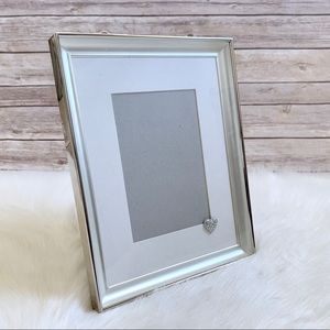 Silver Tone Picture Frame With Heart Accent